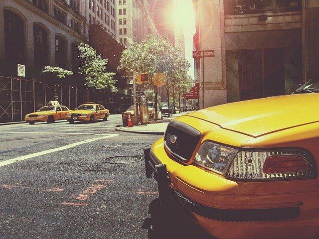 Taxi dans les rues de New York