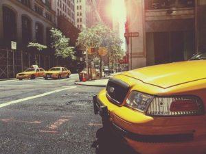 Taxis dans les rues de NY